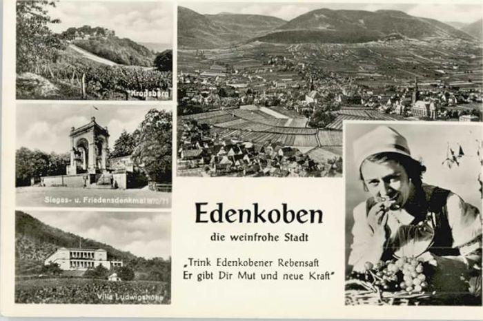Edenkoben Edenkoben Friedens Denkmal  x / Edenkoben /Suedliche Weinstrasse LKR