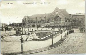 Aachen Aachen Hauptbahnhof   x 1911 / Aachen /Aachen LKR