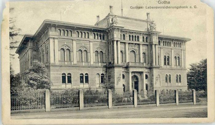 Gotha Thueringen Gotha Lebensversicherungsbank Karte ca. von 1920 x 1955 / Gotha /Gotha LKR