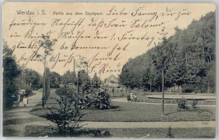 Werdau Sachsen Werdau Sachsen Stadtpark x / Werdau /Zwickau LKR