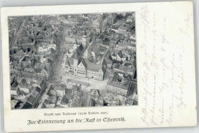 Chemnitz Chemnitz Ballonaufnahme Markt Rathaus x / Chemnitz /Chemnitz Stadtkreis