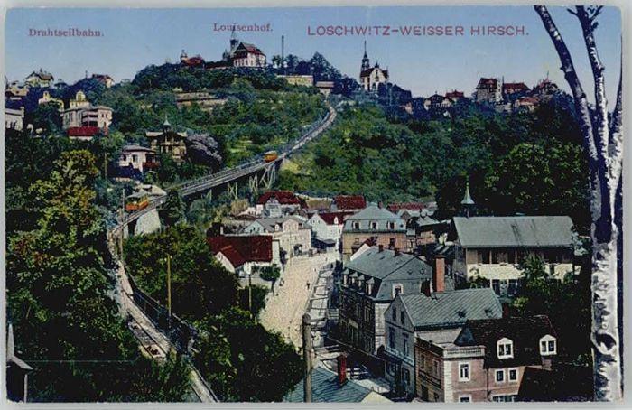 Dresden Dresden Loschwitz Weisser Hirsch Drahtseilbahn Louisenhof x / Dresden Elbe /Dresden Stadtkreis