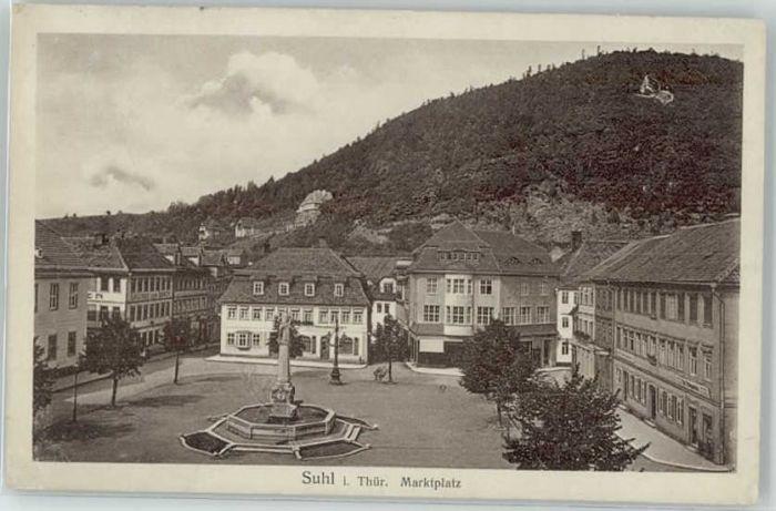 Suhl Thueringer Wald Suhl Marktplatz x / Suhl /Suhl Stadtkreis
