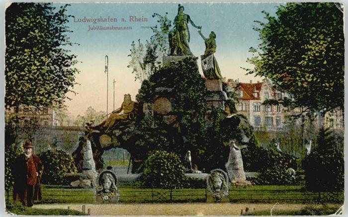 Ludwigshafen Rhein Ludwigshafen Jubilaeumsbrunnen * / Ludwigshafen am Rhein /Ludwigshafen Rhein Stadtkreis
