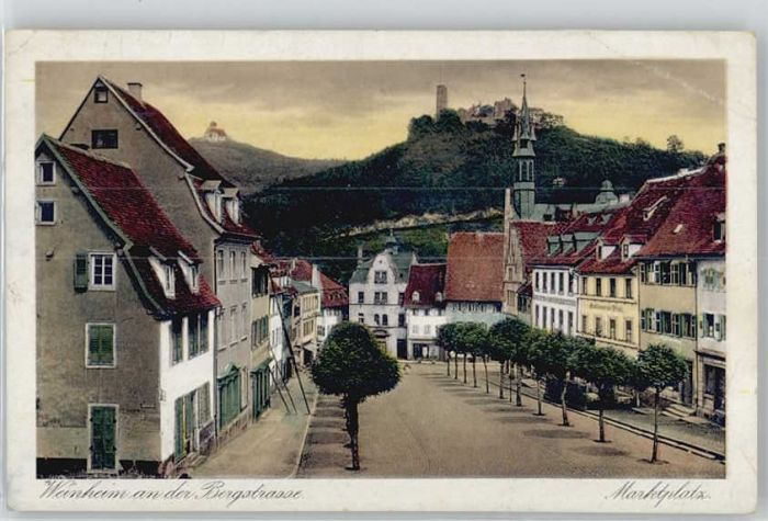 Weinheim Bergstrasse Weinheim Bergstrasse Marktplatz x / Weinheim /Heidelberg Stadtkreis