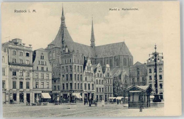 Rostock Mecklenburg-Vorpommern Rostock Markt Marienkirche * / Rostock /Rostock Stadtkreis