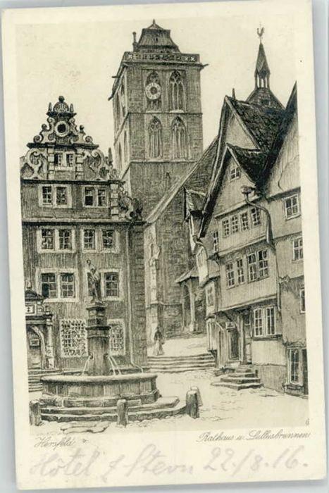 Bad Hersfeld Bad Hersfeld Rathaus Lullusbrunnen x / Bad Hersfeld /Hersfeld-Rotenburg LKR