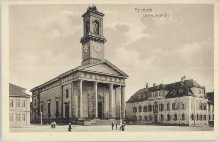 Ansbach Mittelfranken Ansbach Ludwigs-Kirche * / Ansbach /Ansbach LKR
