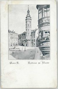 Gera Gera Rathaus KuenstlerA. Juelich x / Gera /Gera Stadtkreis