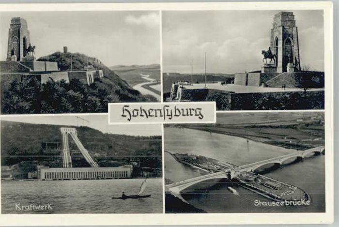 Hohensyburg Hohensyburg Kraftwerk  Stauseebruecke * / Dortmund /Dortmund Stadtkreis
