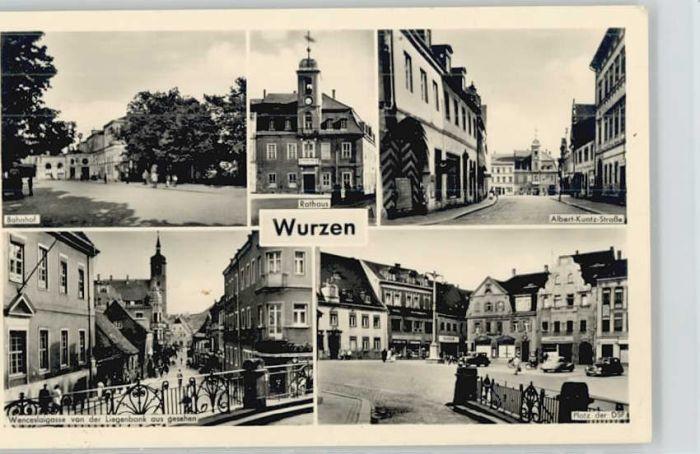 Wurzen Sachsen Wurzen Albert Kuntz Strasse Bahnhof  x / Wurzen /Leipzig LKR