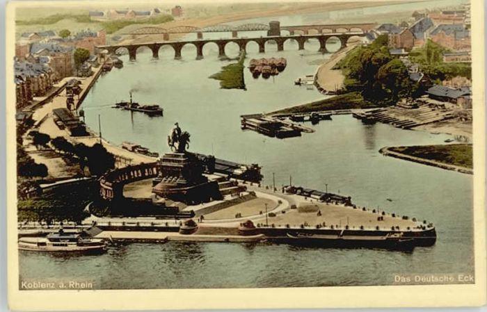 Koblenz Rhein Koblenz Kaiser Wilhelm Denkmal  * / Koblenz /Koblenz Stadtkreis