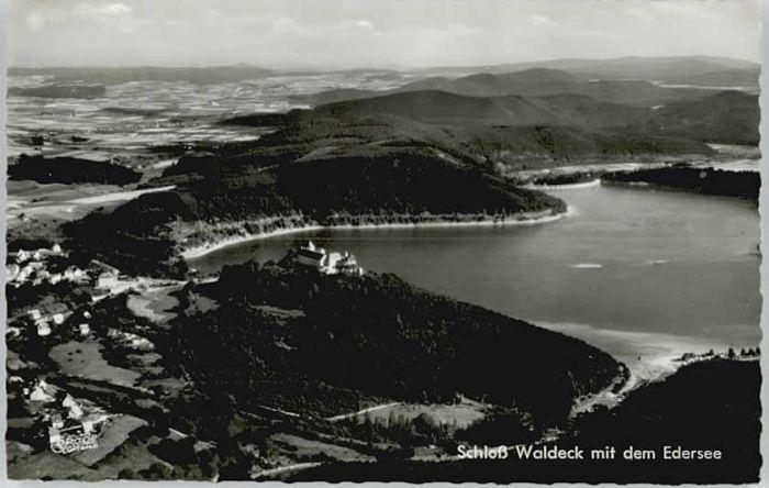 Edersee Edersee Fliegeraufnahme Schloss Waldeck * / Edertal /Waldeck-Frankenberg LKR
