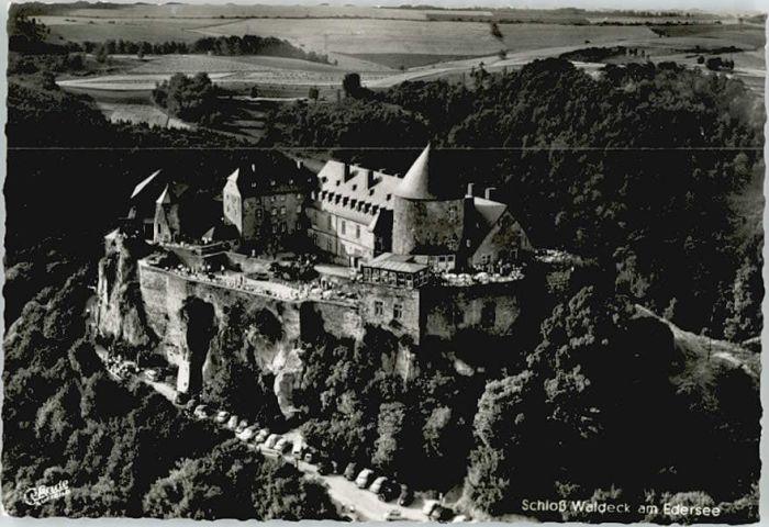 Schloss Waldeck Schloss Waldeck Fliegeraufnahme * / Waldeck /Waldeck-Frankenberg LKR