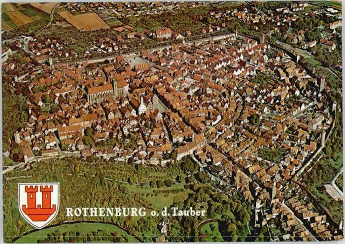 Rothenburg Tauber Rothenburg Tauber Fliegeraufnahme * / Rothenburg ob der Tauber /Ansbach LKR