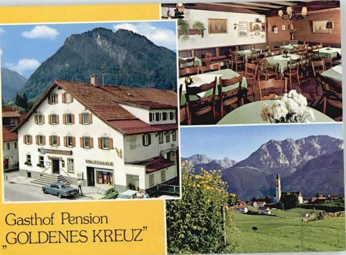 70131034 Pfronten Pfronten Gasthof Pension Goldenes Kreuz * Pfronten Pfronten