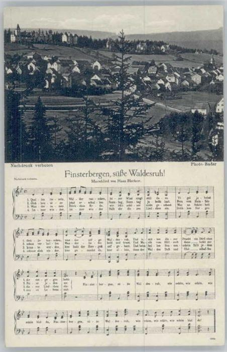 Finsterbergen Finsterbergen Lied * / Finsterbergen Thueringer Wald /Gotha LKR