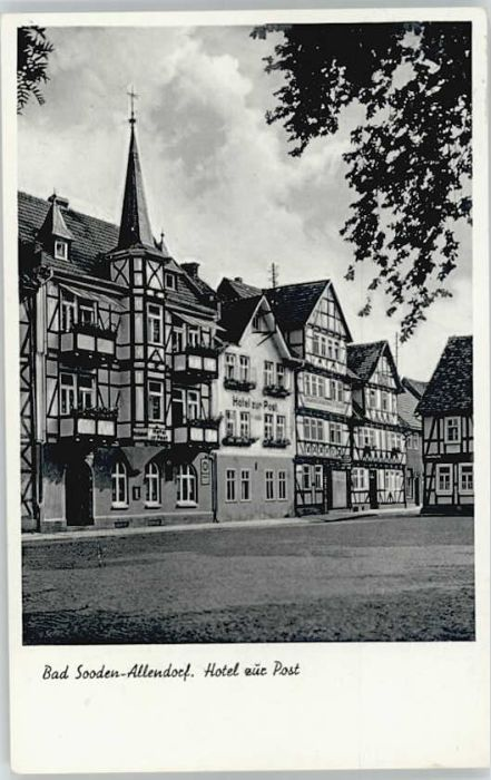 Bad Sooden-Allendorf Bad Sooden-Allendorf Hotel zur Post x / Bad Sooden-Allendorf /Werra-Meissner-Kreis LKR