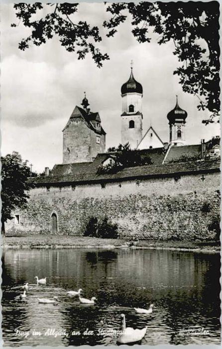 Isny Allgaeu Isny Stadtmauer * / Isny im Allgaeu /Ravensburg LKR