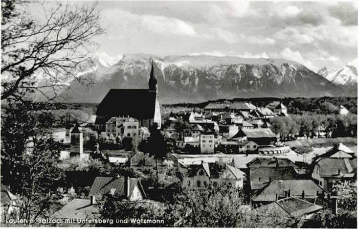 Laufen Salzach Laufen Salzach Untersberg Watzmann x / Laufen /Berchtesgadener Land LKR