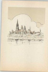 Ulm Donau Ulm Donau Kuenstlerkarte * / Ulm /Alb-Donau-Kreis LKR