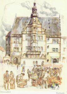 Schweinfurt Schweinfurt Rathaus KuenstlerMueller Gera * / Schweinfurt /Schweinfurt LKR
