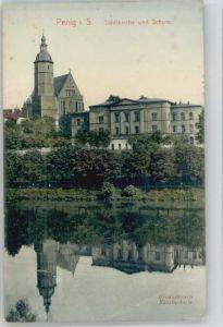 Penig Penig Stadtkirche Schule x / Penig /Mittelsachsen LKR
