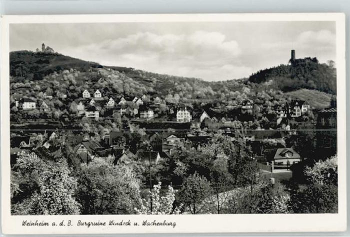 Weinheim Bergstrasse Weinheim Bergstrasse Burgruine Windeck Wachenburg x / Weinheim /Heidelberg Stadtkreis
