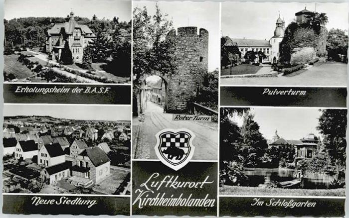 Kirchheimbolanden Kirchheimbolanden Pulverturm Schlossgarten * / Kirchheimbolanden /Donnersbergkreis LKR