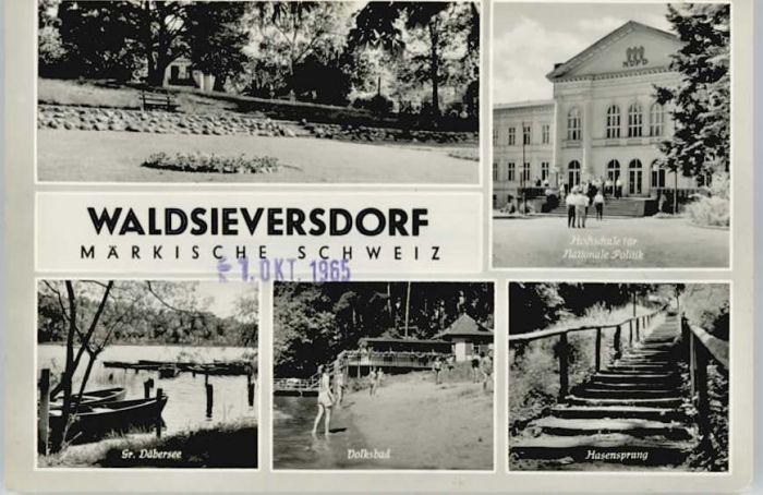 Waldsieversdorf Waldsieversdorf Daebersee Hasensprung x / Waldsieversdorf /Maerkisch-Oderland LKR