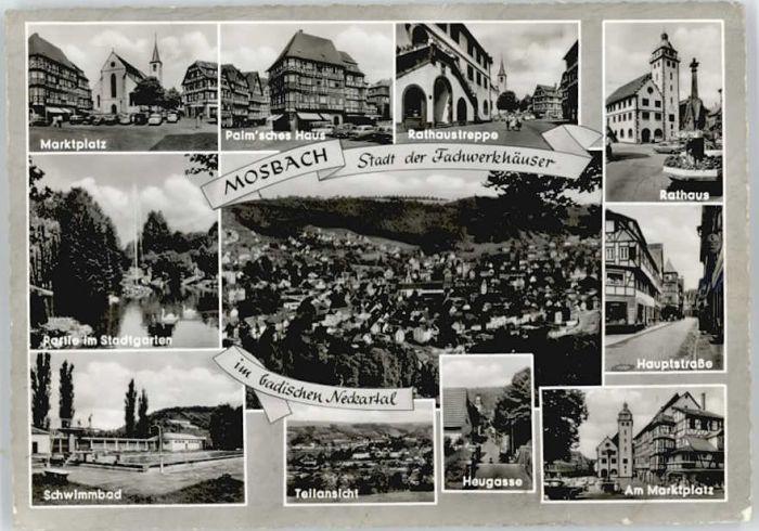 Mosbach Baden Mosbach Heugasse  x / Mosbach /Neckar-Odenwald-Kreis LKR