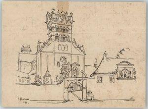 Trier Trier St. Matthias-Basilika Kuenstlerkarte x / Trier /Trier Stadtkreis