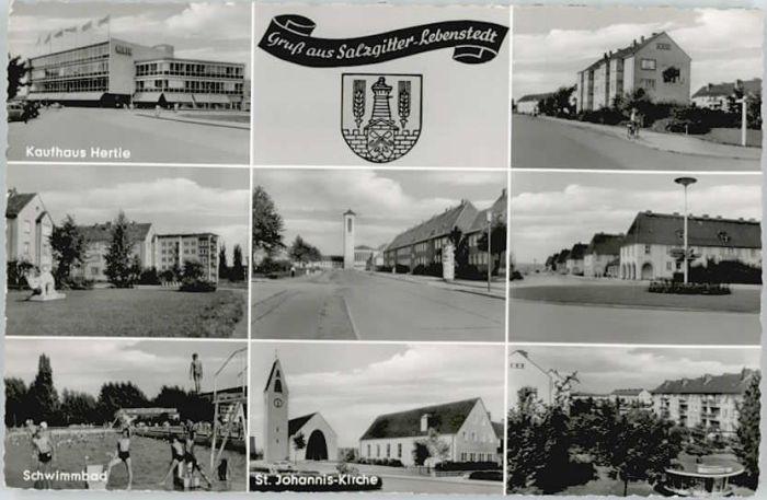 Salzgitter Salzgitter Lebenstedt Kaufhaus HertieSt Johannis Kirche  * / Salzgitter /Salzgitter Stadtkreis