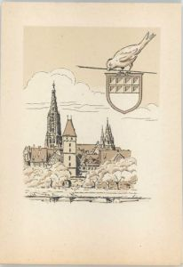Ulm Donau Ulm Kuenstlerkarte * / Ulm /Alb-Donau-Kreis LKR