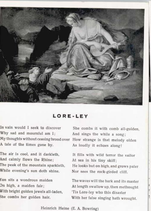 Loreley Lorelei Loreley Gedicht Sankt Goarshausen Rhein Lahn Kreis Lkr
