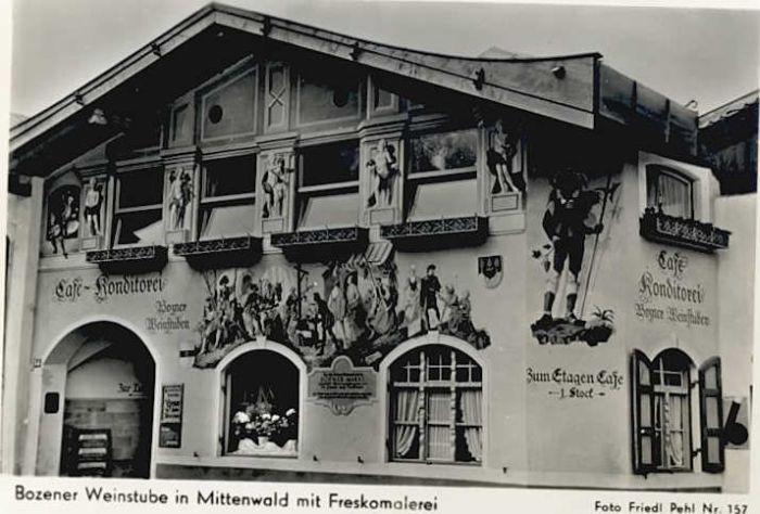 Mittenwald Bayern Mittenwald Bozener Weinstube Cafe Konditorei * / Mittenwald /Garmisch-Partenkirchen LKR