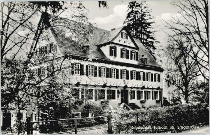 Erbach Odenwald Erbach Odenwald Jagdschloss Eulbach * / Erbach /Odenwaldkreis LKR