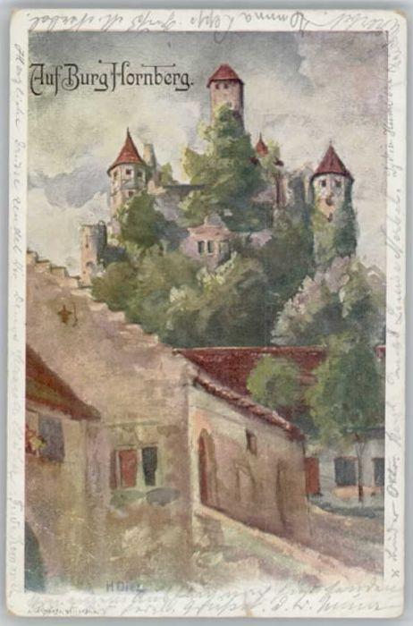 Neckarzimmern Neckarzimmern Burg Hornberg KuenstlerH. Diez x / Neckarzimmern /Neckar-Odenwald-Kreis LKR