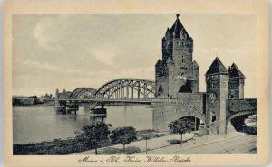 Mainz Rhein Mainz Kaiser Wilhelm Bruecke * / Mainz Rhein /Mainz Stadtkreis