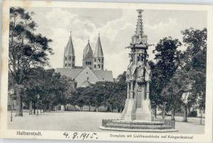 Halberstadt Halberstadt Domplatz Liebfrauen Kirche Krieger Denkmal  x / Halberstadt /Harz LKR