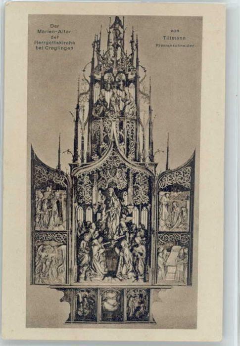Creglingen Creglingen Marien Altar * / Creglingen /Main-Tauber-Kreis LKR