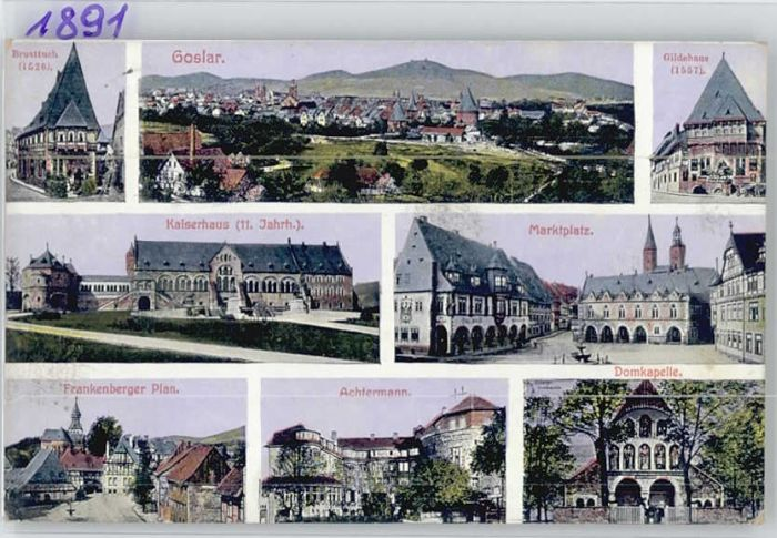 Goslar Goslar Brusttuch Kaiserhaus Gildehaus Achtermann x / Goslar /Goslar LKR