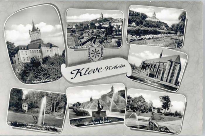 Bad Cleve Bad Cleve Kermisdahl Schusterkes Brunnen Schwanenburg * / Kleve /Kleve LKR