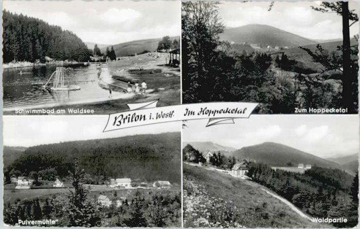 Brilon-Wald Brilon-Wald Pulvermuehle Hoppecketal * / Brilon /Hochsauerlandkreis LKR