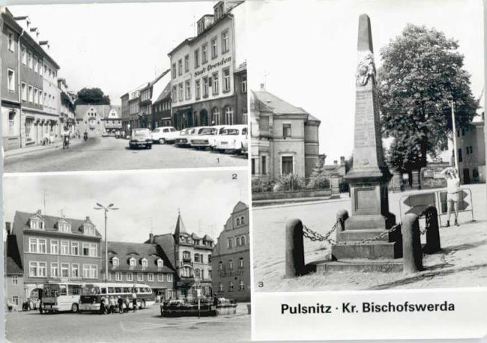 Pulsnitz Sachsen Pulsnitz Thaelmann-Saeule Postmeilensaeule x / Pulsnitz /Bautzen LKR