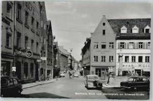 Weilheim Oberbayern Weilheim in Oberbayern Marienplatz Schmiedstrasse ungelaufen ca. 1955 / Weilheim i.OB /Weilheim-Schongau LKR