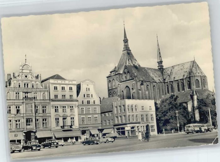 Rostock Mecklenburg-Vorpommern Rostock Ernst Thaelmann Platz St Marienkirche * / Rostock /Rostock Stadtkreis