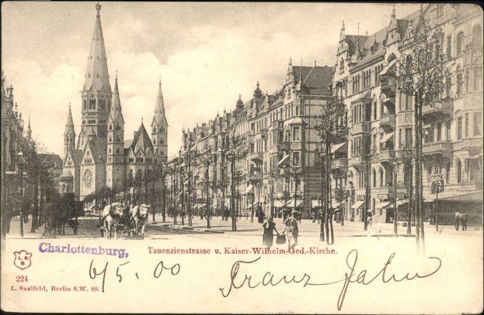 Charlottenburg Charlottenburg Tauenzienstrasse Kaiser Wilhelm Kirche  x / Berlin /Berlin Stadtkreis