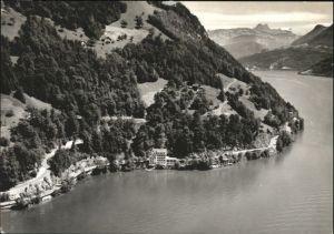 Gersau Vierwaldstaettersee Gersau Fliegeraufnahme Hotel Restaurant Seehof Du Lac x /  /