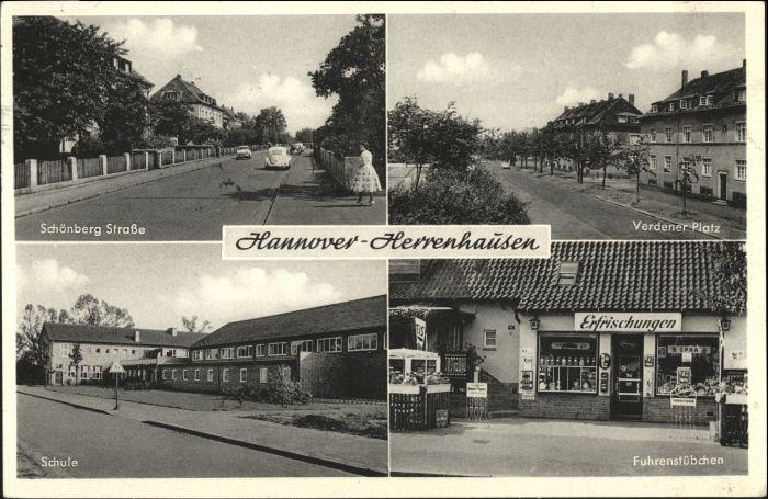 Herrenhausen Hannover Herrenhausen Hannover Verdener Platz Schule Fuhrenstuebchen Schoenberg Strasse x / Hannover /Region Hannover LKR